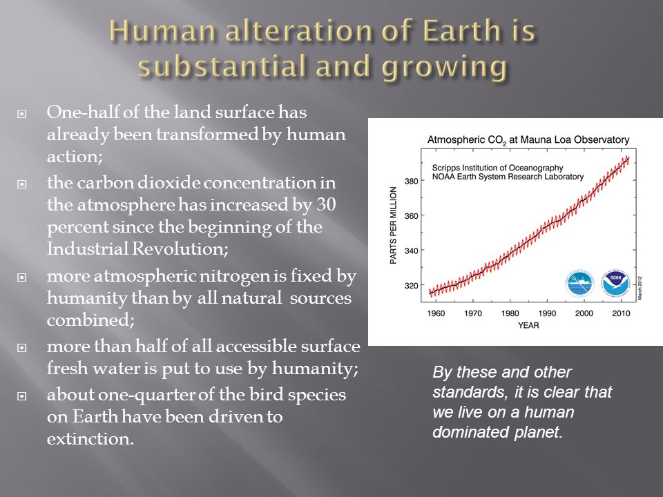 Human alteration of Earth is substantial and growing