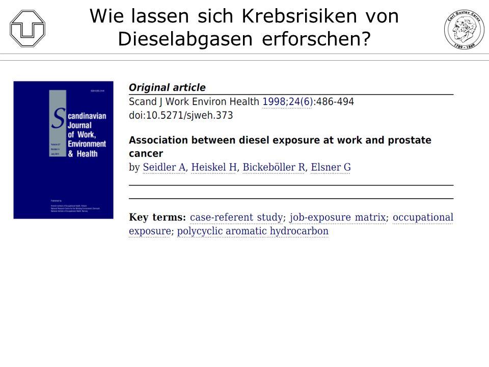 Wie lassen sich Krebsrisiken von Dieselabgasen erforschen