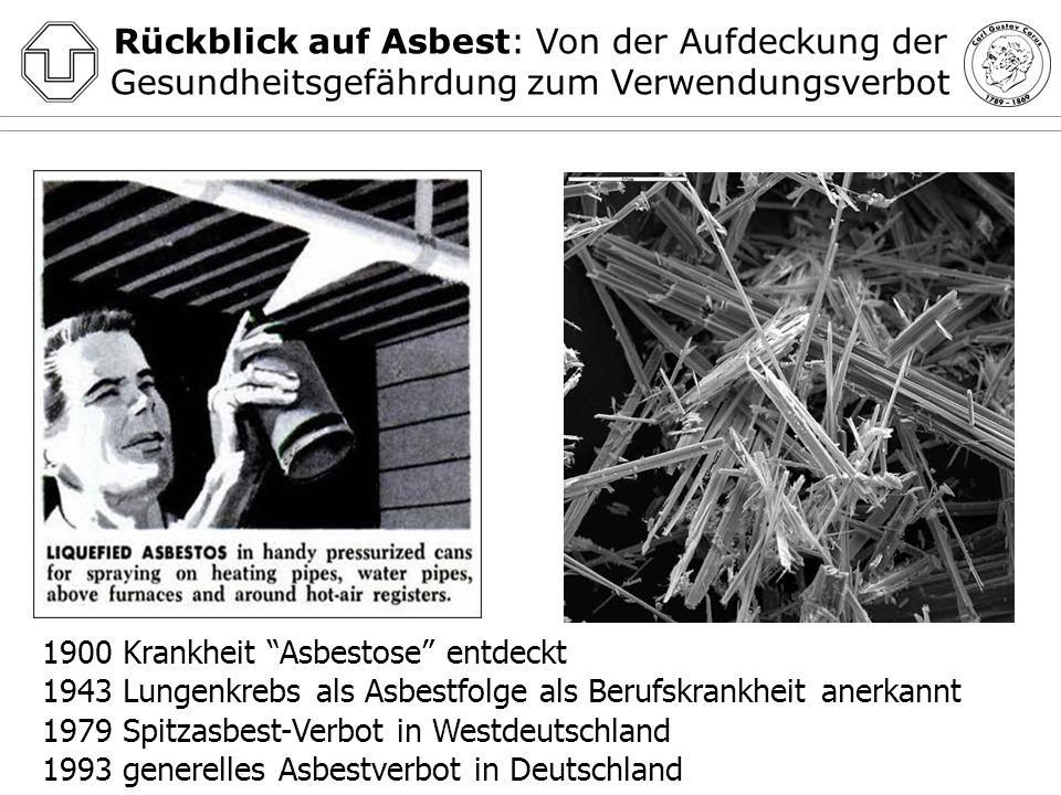 Rückblick auf Asbest: Von der Aufdeckung der Gesundheitsgefährdung zum Verwendungsverbot