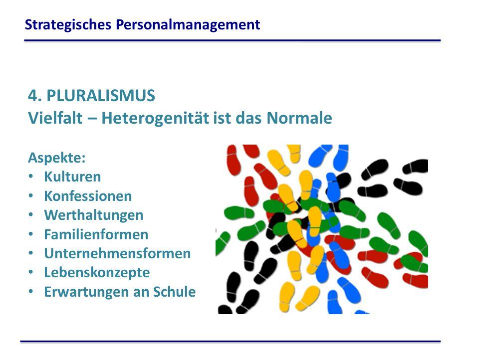 4. PLURALISMUS Vielfalt – Heterogenität ist das Normale