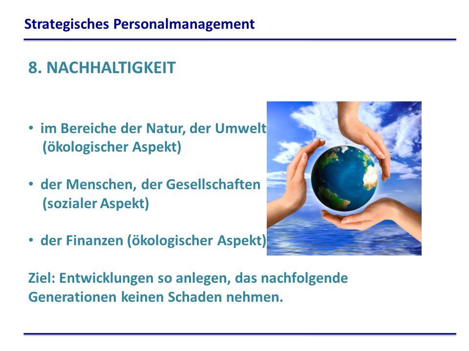 8. NACHHALTIGKEIT Strategisches Personalmanagement