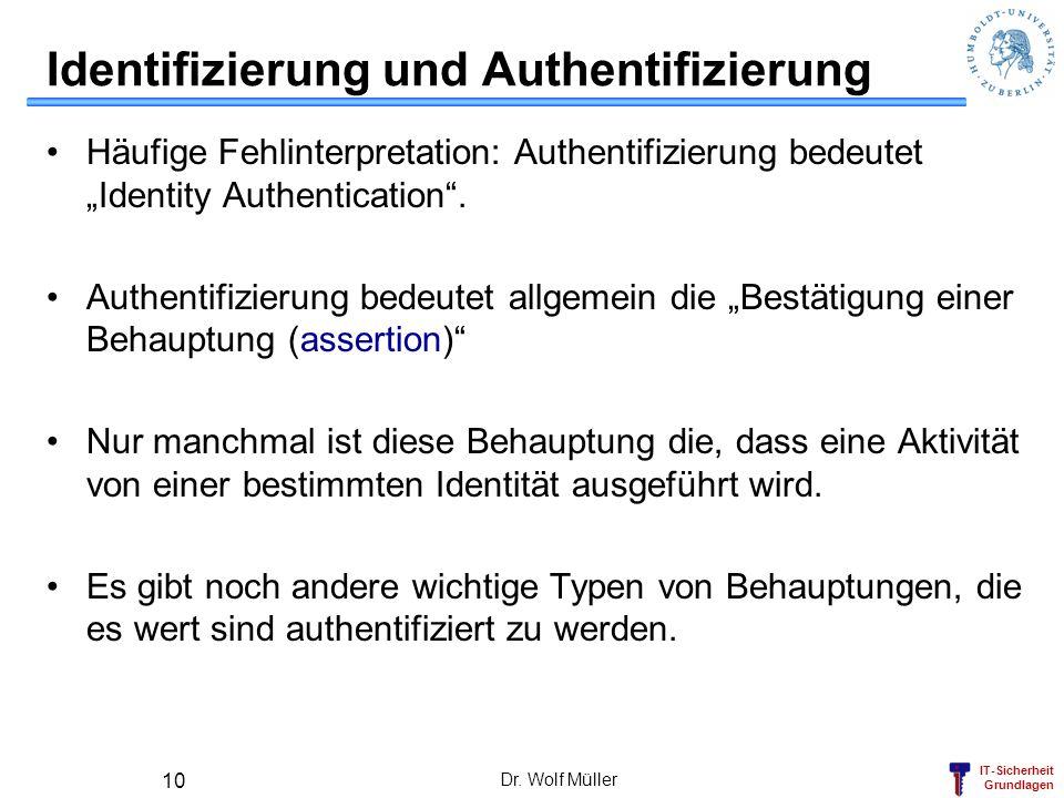 Identifizierung und Authentifizierung
