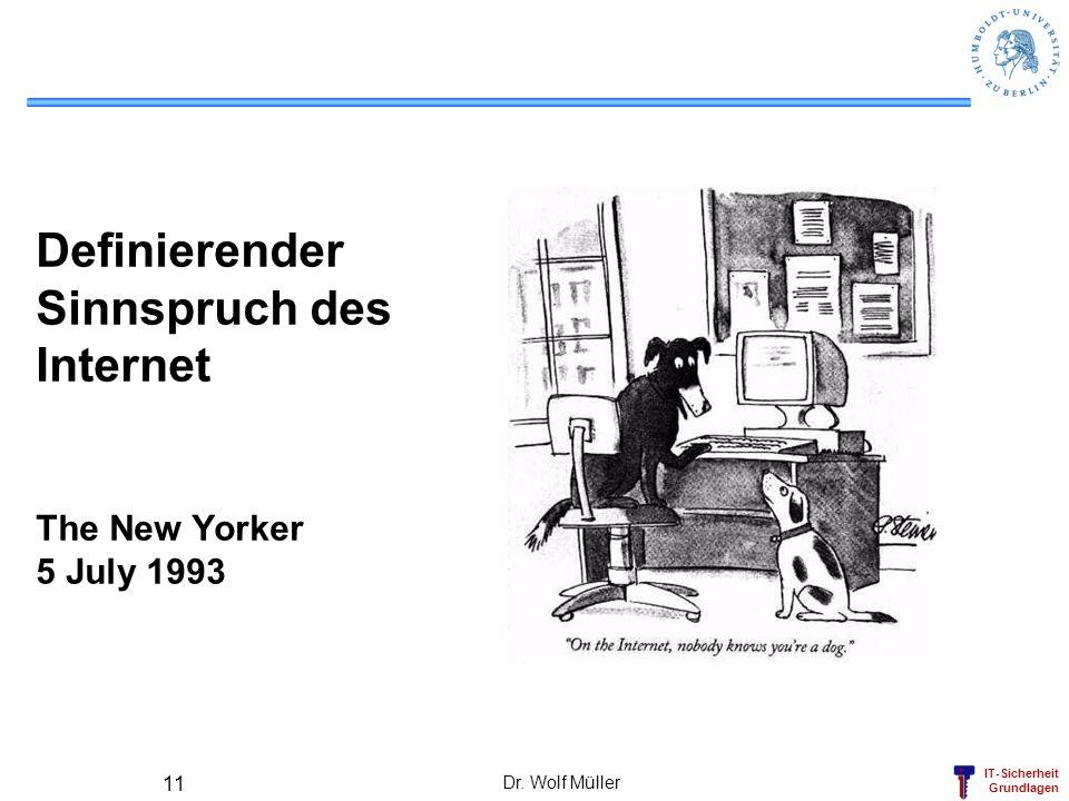 Definierender Sinnspruch des Internet The New Yorker 5 July 1993