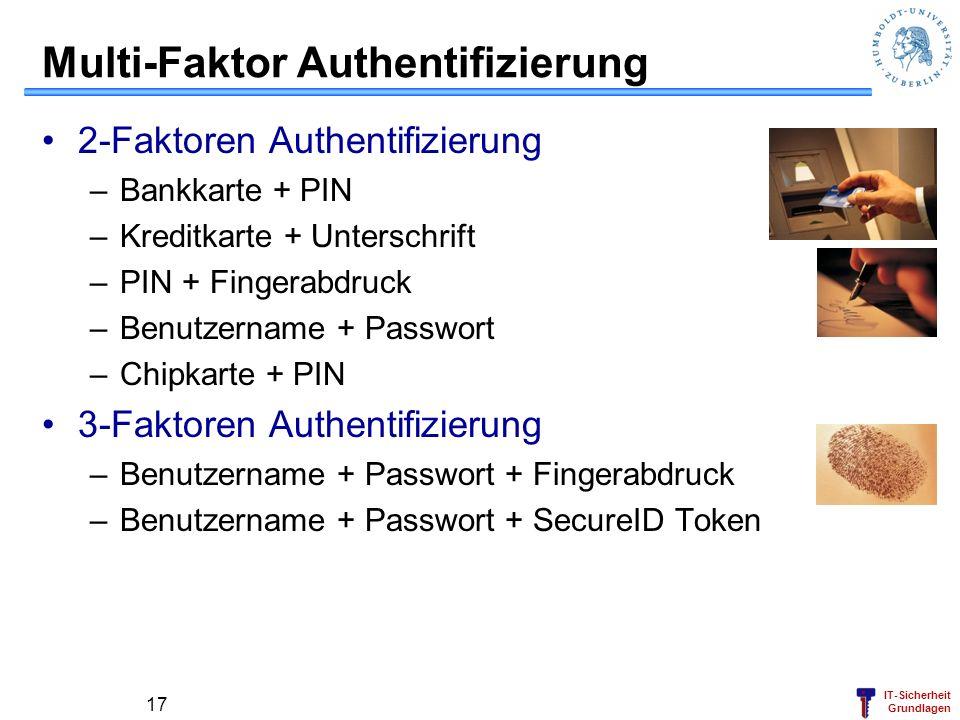 Multi-Faktor Authentifizierung