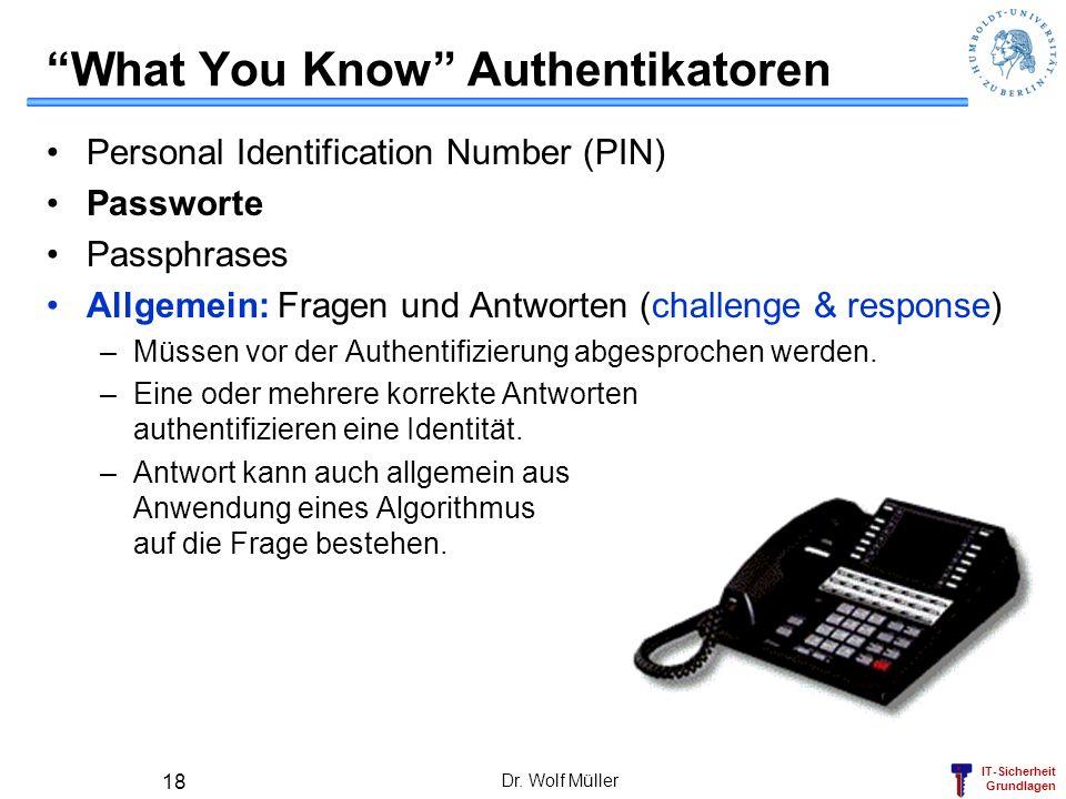 What You Know Authentikatoren