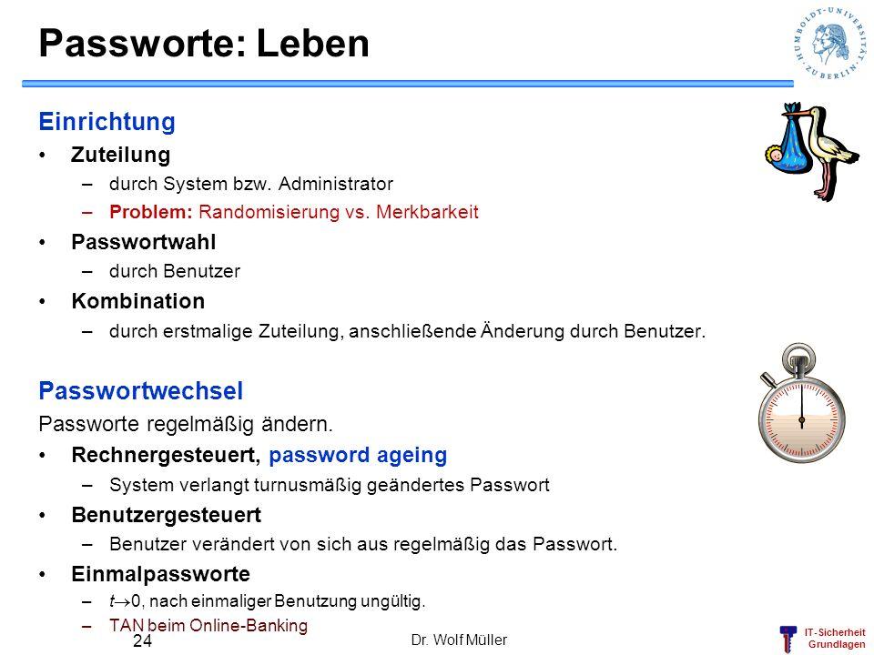 Passworte: Leben Einrichtung Passwortwechsel Zuteilung Passwortwahl