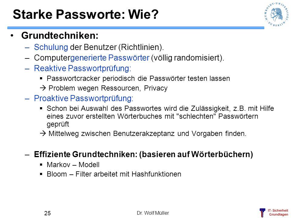 Starke Passworte: Wie Grundtechniken: