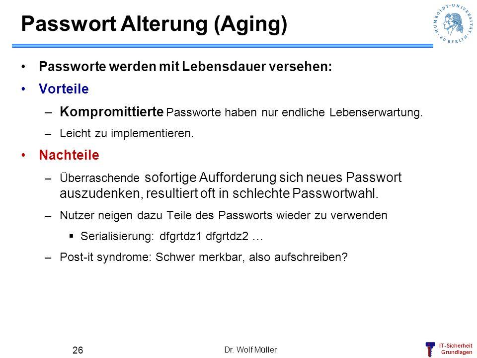 Passwort Alterung (Aging)