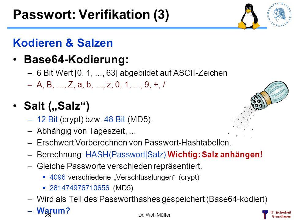 Passwort: Verifikation (3)