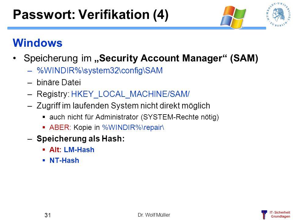 Passwort: Verifikation (4)