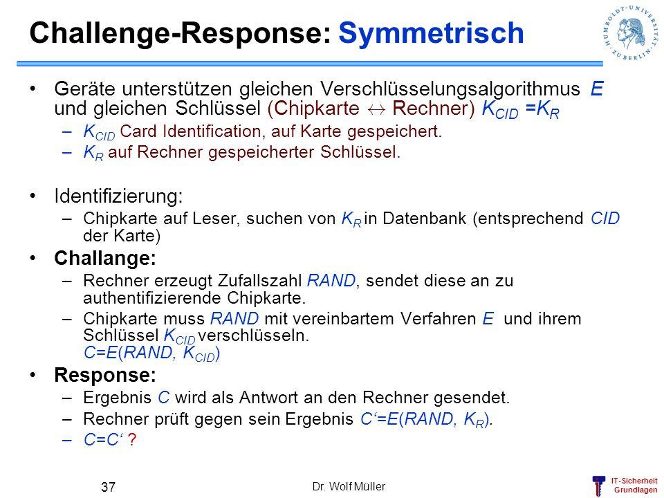Challenge-Response: Symmetrisch