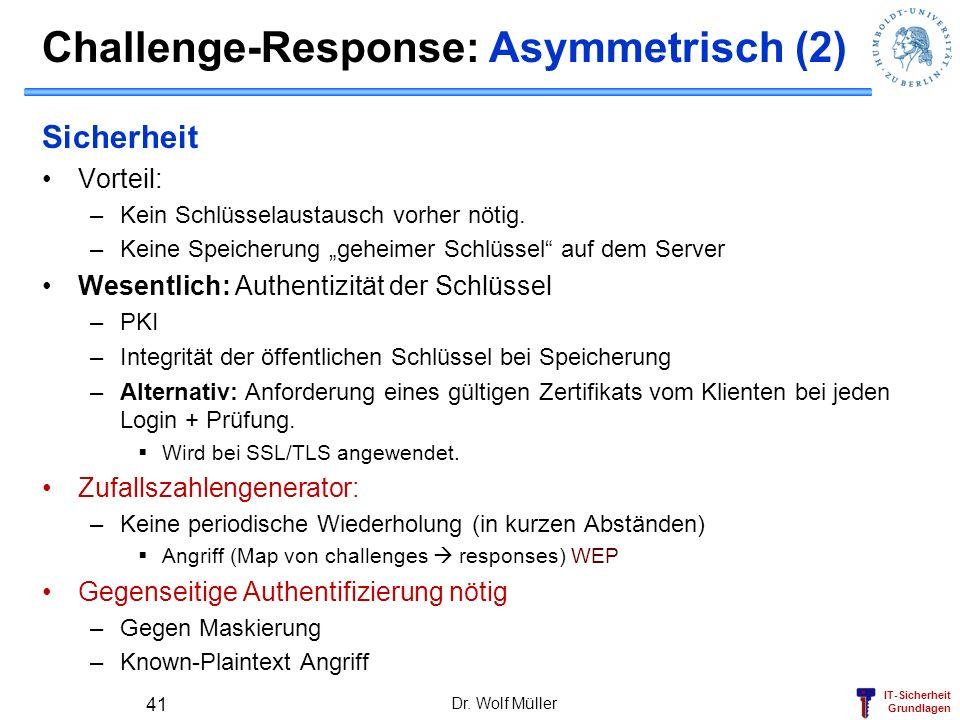 Challenge-Response: Asymmetrisch (2)