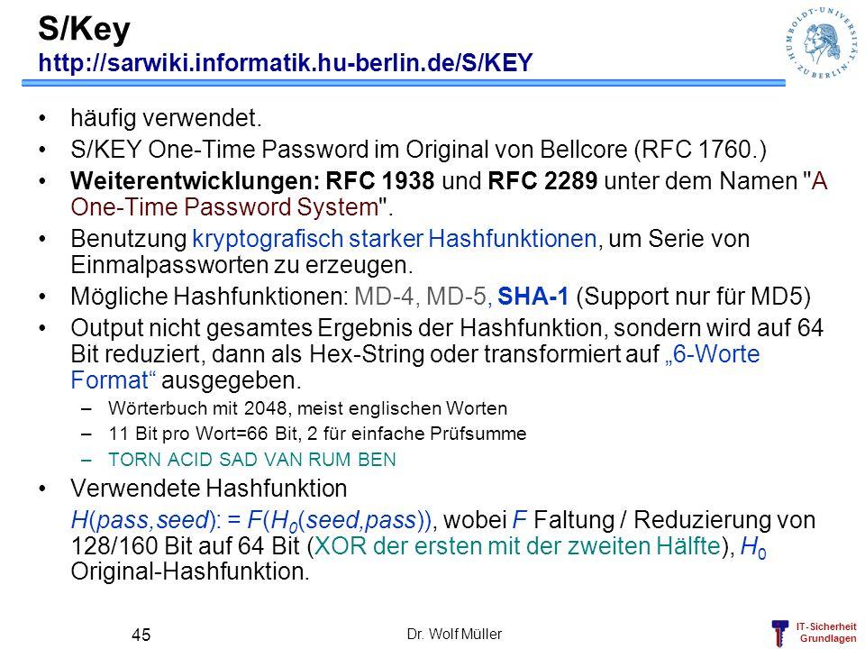 S/Key http://sarwiki.informatik.hu-berlin.de/S/KEY