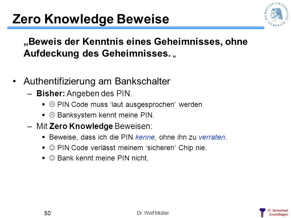 Zero Knowledge Beweise