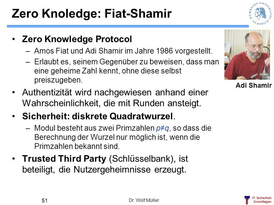 Zero Knoledge: Fiat-Shamir