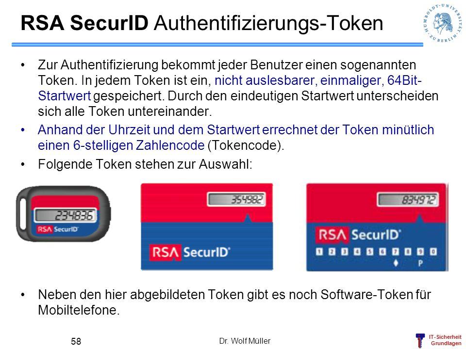 RSA SecurID Authentifizierungs-Token