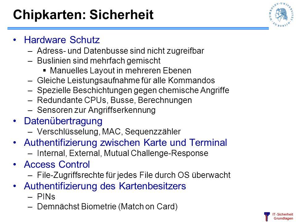 Chipkarten: Sicherheit