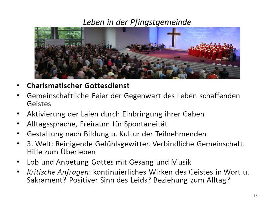 Leben in der Pfingstgemeinde