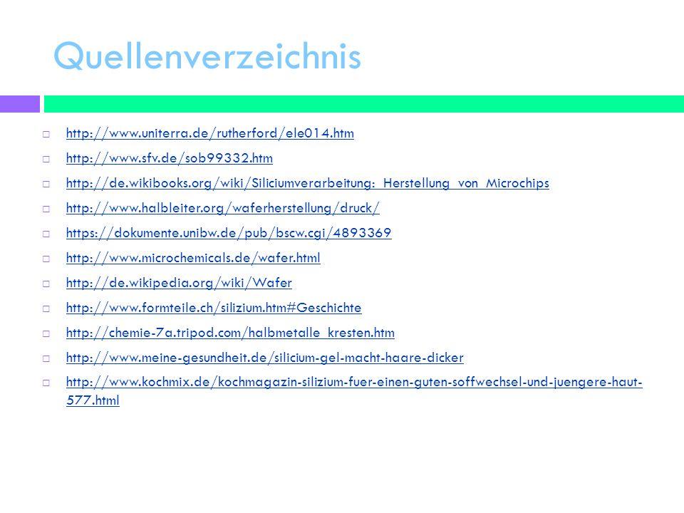 Quellenverzeichnis http://www.uniterra.de/rutherford/ele014.htm