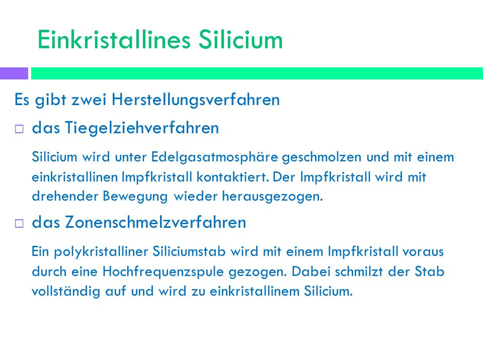 Einkristallines Silicium
