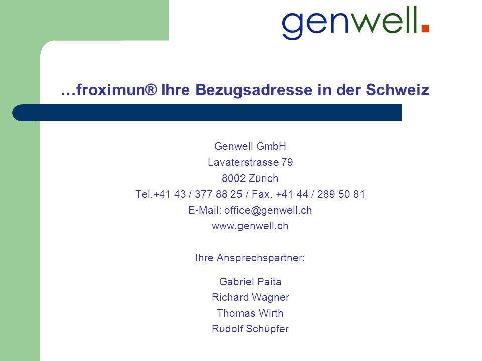 …froximun® Ihre Bezugsadresse in der Schweiz