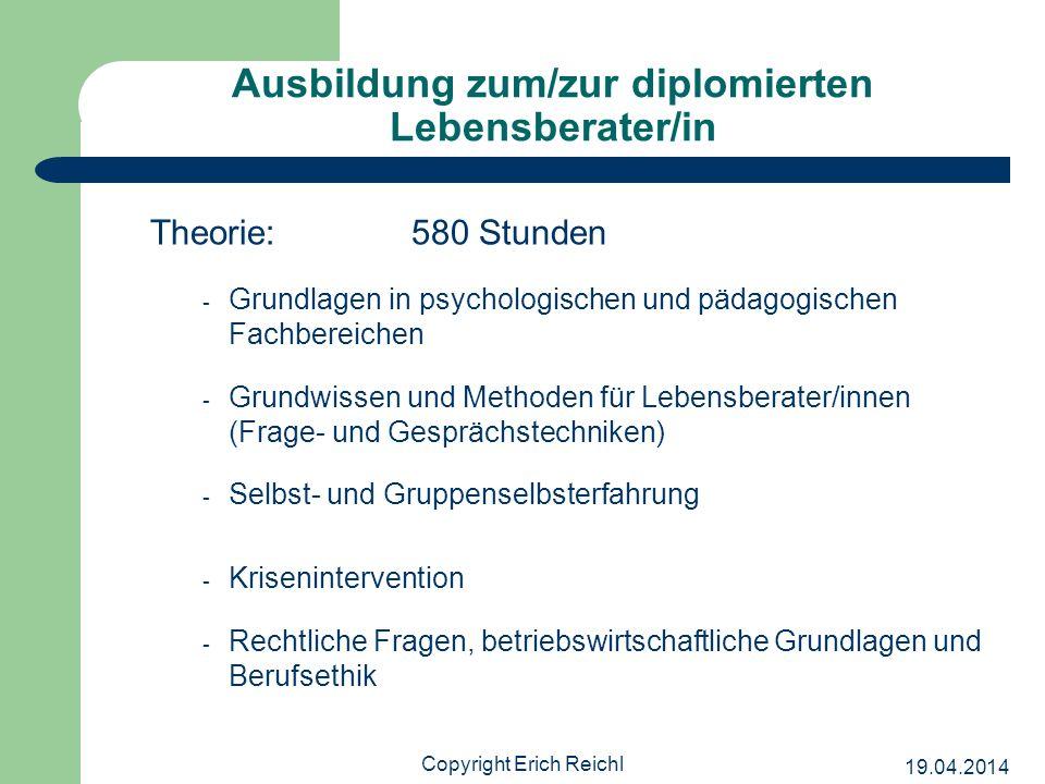 Ausbildung zum/zur diplomierten Lebensberater/in