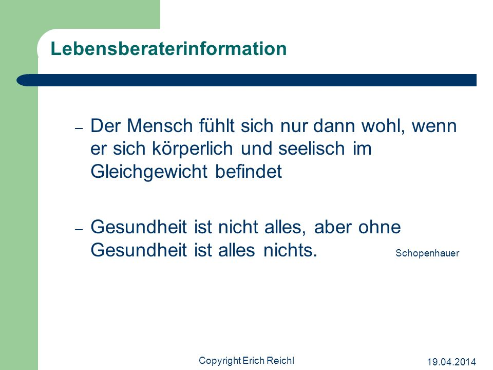 Lebensberaterinformation