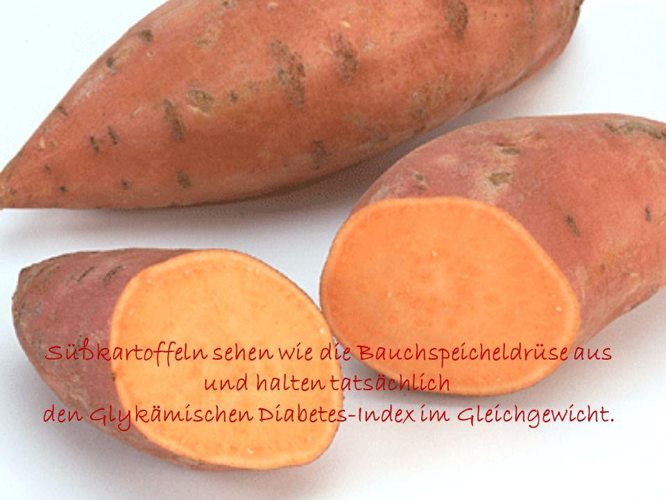 Süßkartoffeln sehen wie die Bauchspeicheldrüse aus