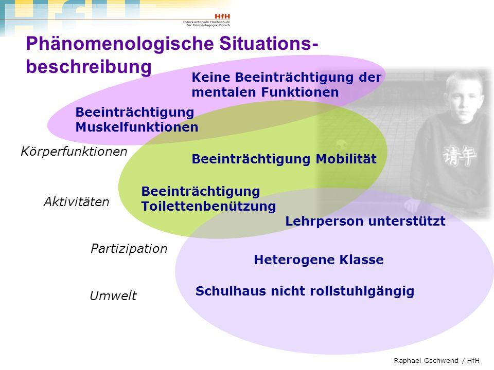 Phänomenologische Situations- beschreibung