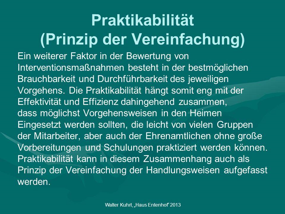 Praktikabilität (Prinzip der Vereinfachung)
