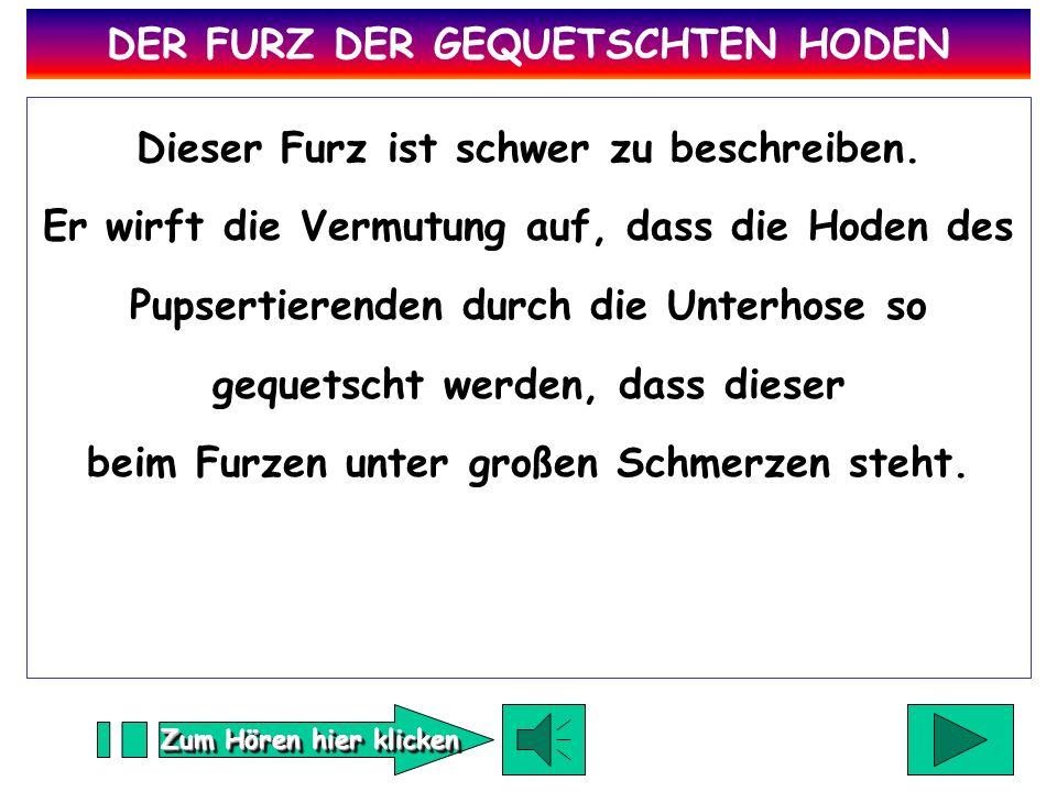 DER FURZ DER GEQUETSCHTEN HODEN