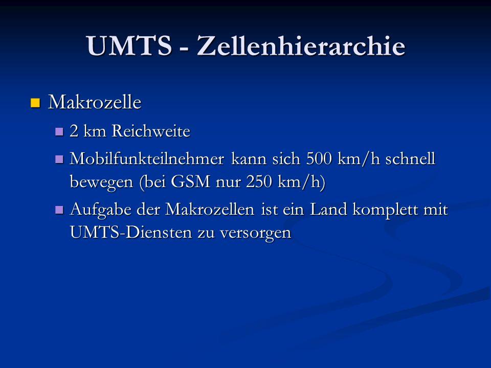 UMTS - Zellenhierarchie