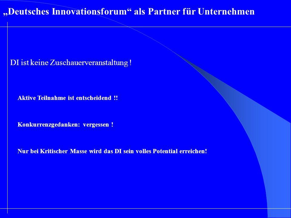 """""""Deutsches Innovationsforum als Partner für Unternehmen"""