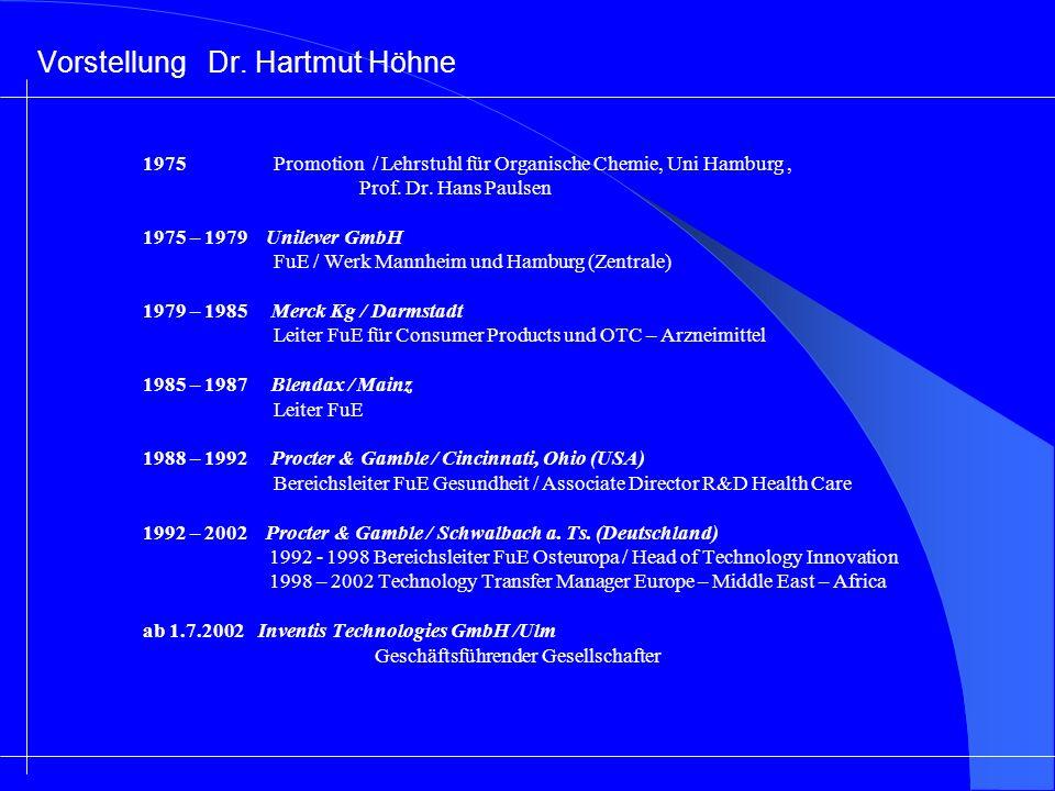 Vorstellung Dr. Hartmut Höhne