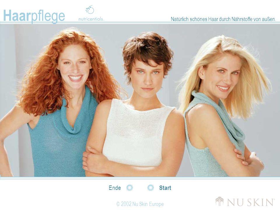 Haarpflege Natürlich schönes Haar durch Nährstoffe von außen. Ende Start © 2002 Nu Skin Europe