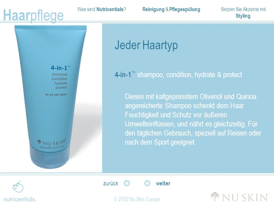 Jeder Haartyp 4-in-1™ shampoo, condition, hydrate & protect