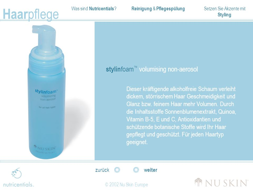 stylinfoam™ volumising non-aerosol