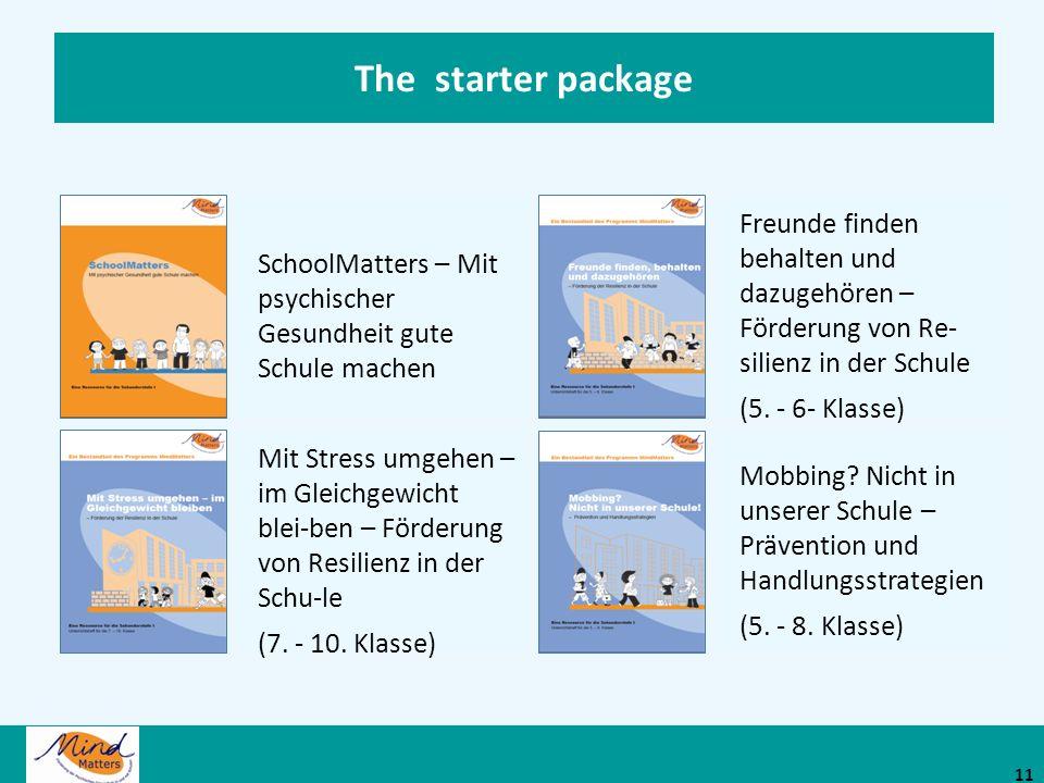 The starter package SchoolMatters – Mit psychischer Gesundheit gute Schule machen.