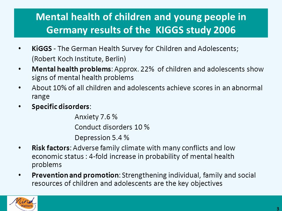 KiGGS - The German Health Survey for Children and Adolescents;