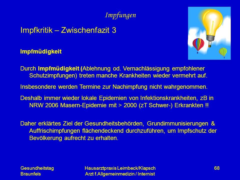 Hausarztpraxis Leimbeck/Klapsch Arzt f.Allgemeinmedizin / Internist
