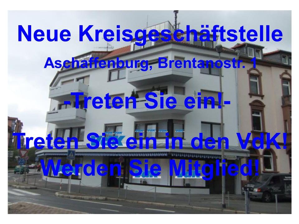 Neue Kreisgeschäftstelle Aschaffenburg, Brentanostr. 1