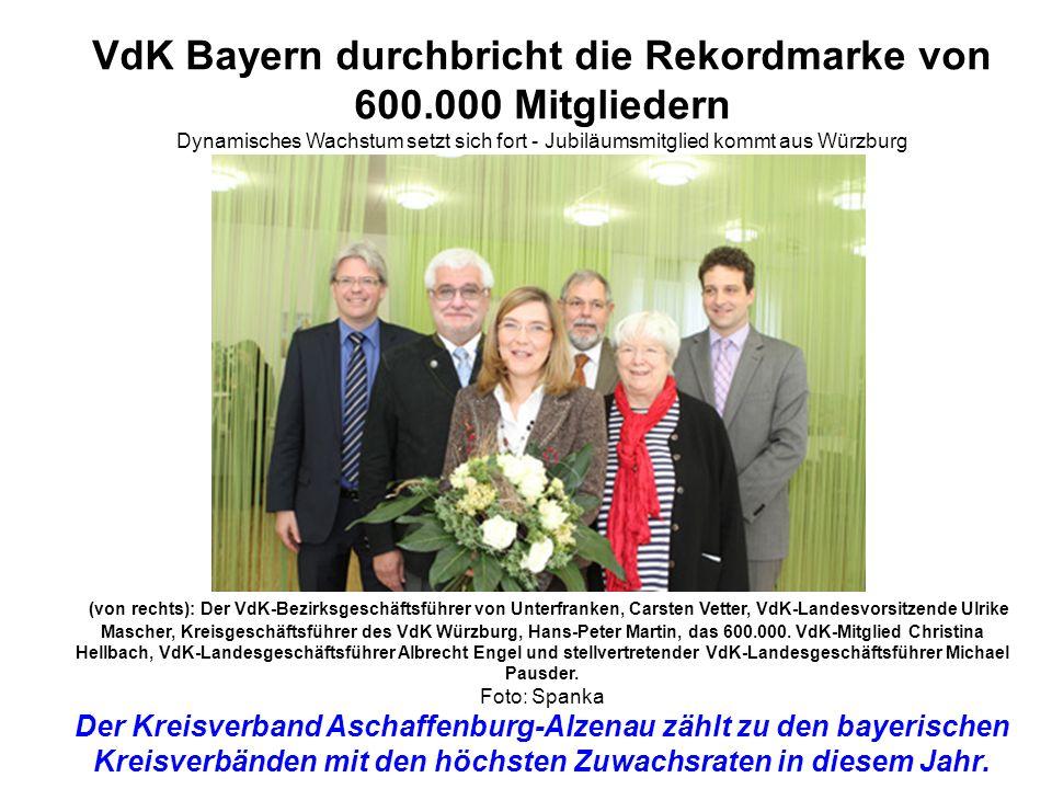VdK Bayern durchbricht die Rekordmarke von 600.000 Mitgliedern
