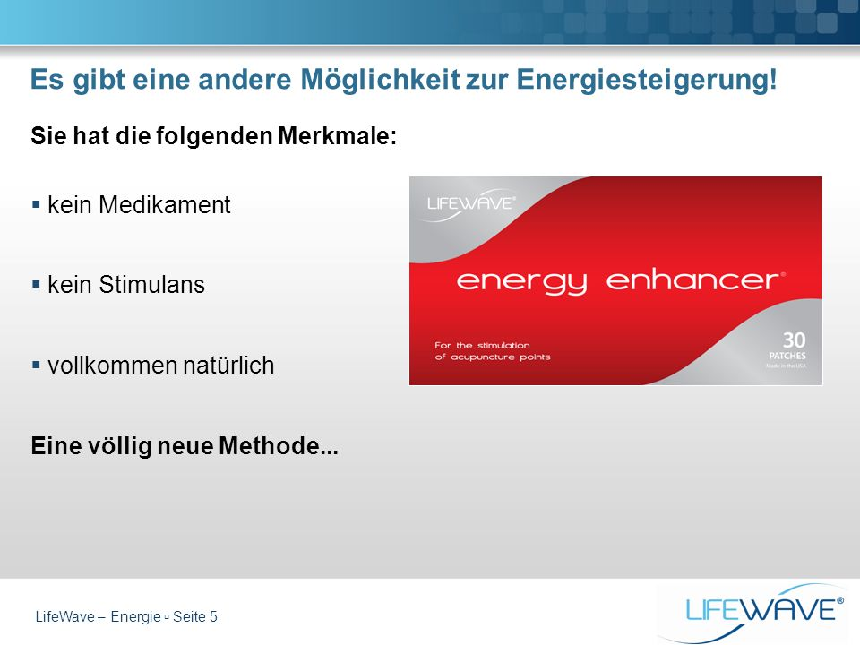 Es gibt eine andere Möglichkeit zur Energiesteigerung!