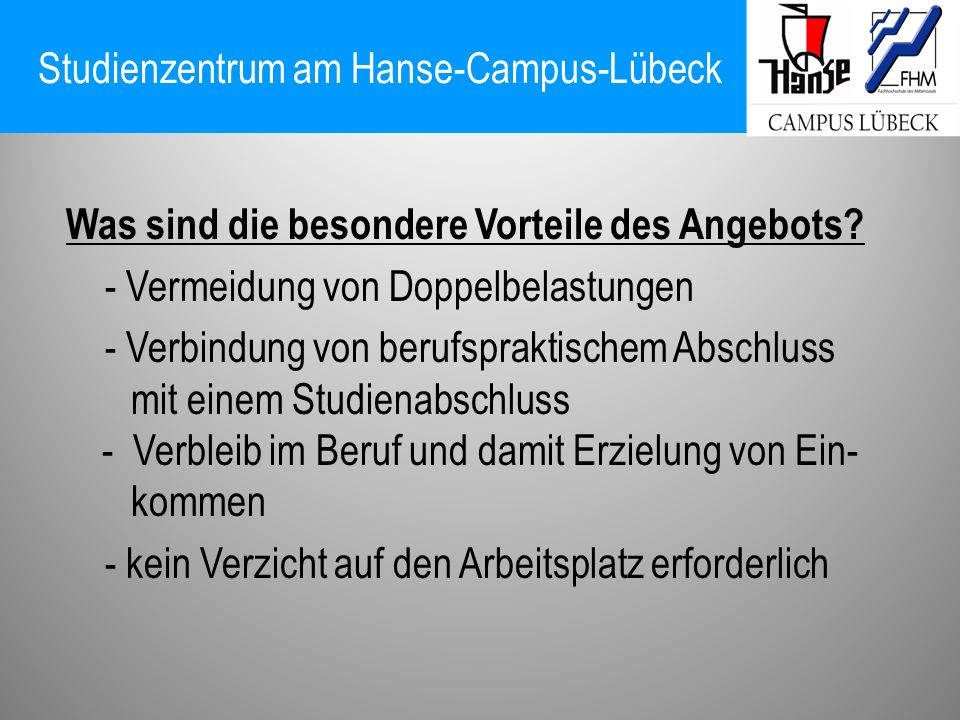 Studienzentrum am Hanse-Campus-Lübeck