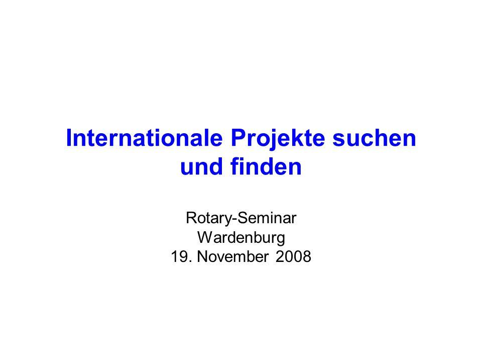 Internationale Projekte suchen und finden