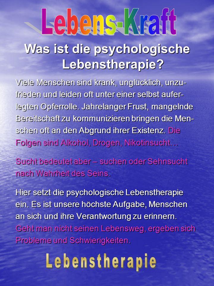 Was ist die psychologische Lebenstherapie