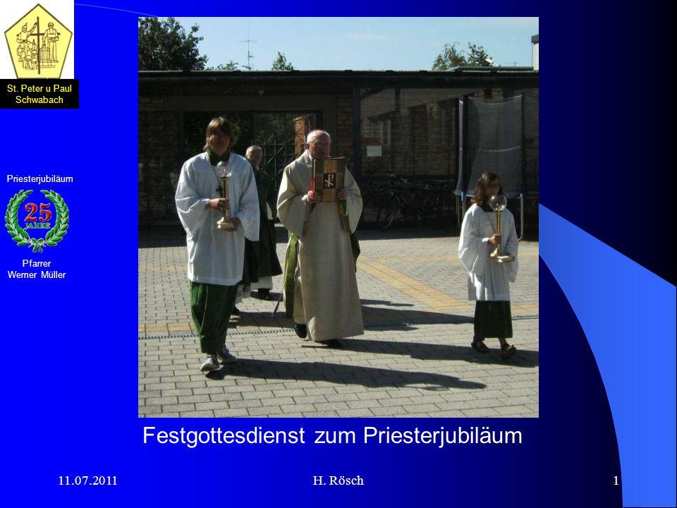 Festgottesdienst zum Priesterjubiläum