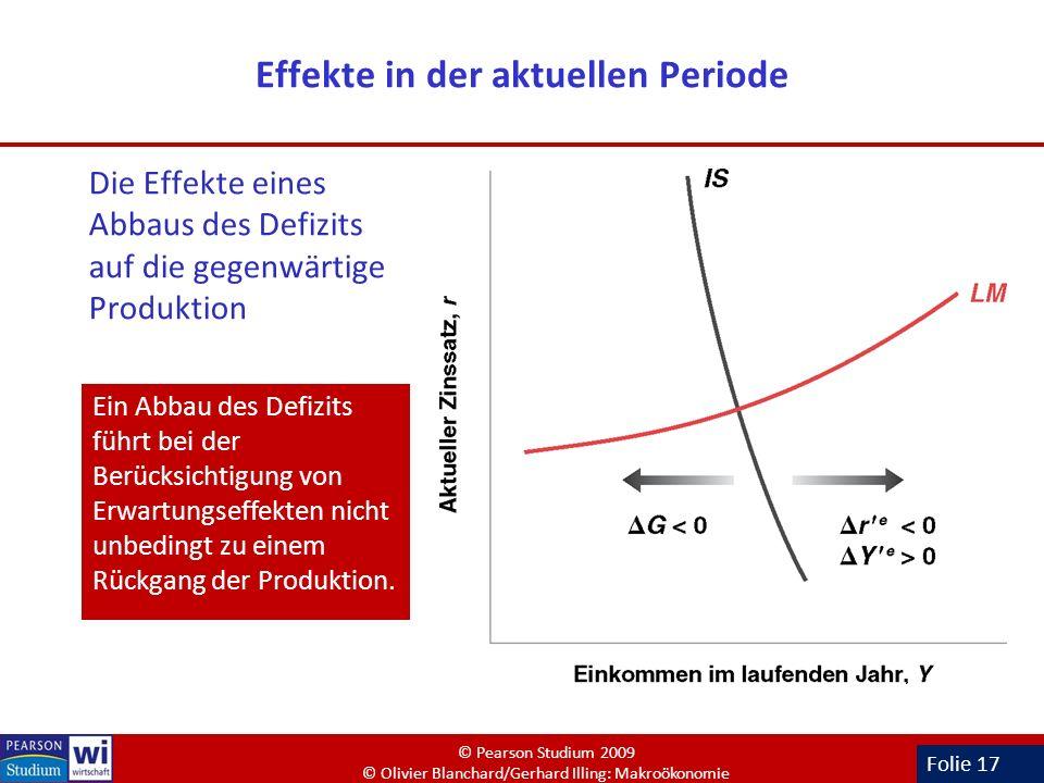 Effekte in der aktuellen Periode
