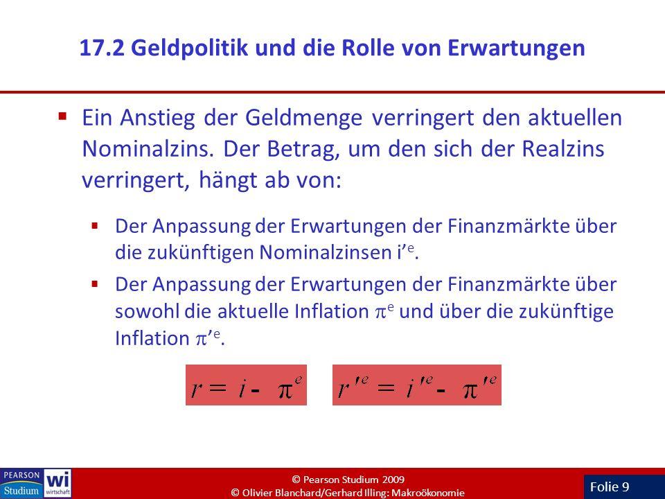 17.2 Geldpolitik und die Rolle von Erwartungen
