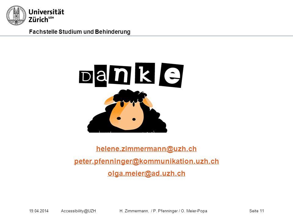 helene. zimmermann@uzh. ch peter. pfenninger@kommunikation. uzh